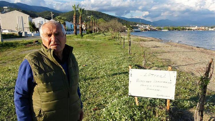 İğde nöbeti: Ağaçlarına zarar verilince tatilini erkene alıp Türkiye'ye gitti!