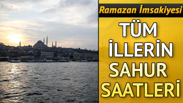 Bu gece sahur saat kaçta yapılacak? İstanbul, Ankara, İzmir ve diğer iller dahil sahur saatleri