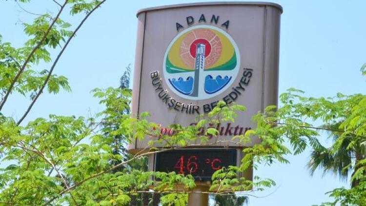 Adana'da termometreler 46 dereceyi gösterdi