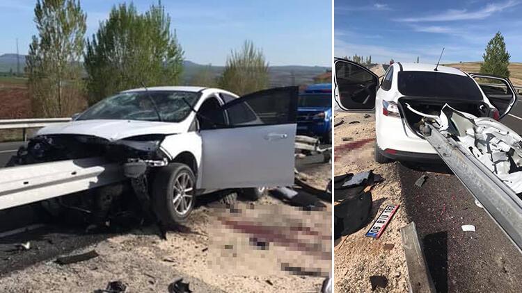 Son dakika: Kayseri'de feci kaza... Ok gibi saplandı
