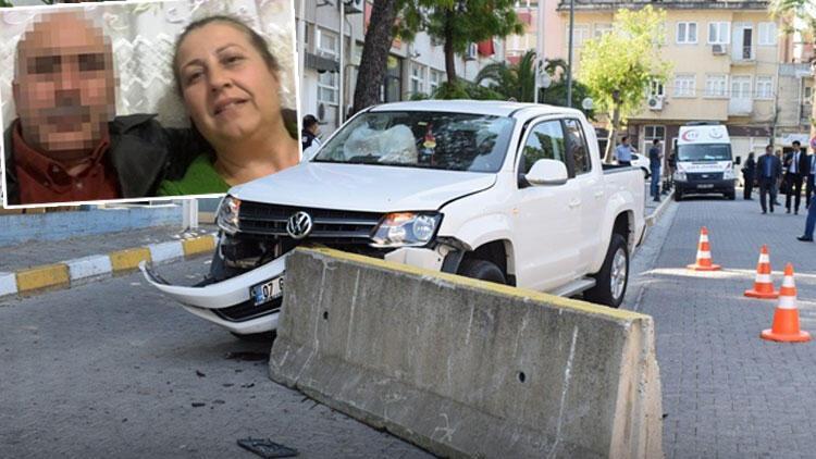 Yer Aydın... 29 yıllık eşini öldürdü, karakola aracıyla daldı...