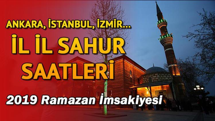 İstanbul'da sahur saat kaçta yapılacak? Diyanet il il sahur saatleri