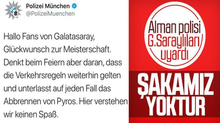 Almanya'da Münih polisinden Galatasaray taraftarına uyarı