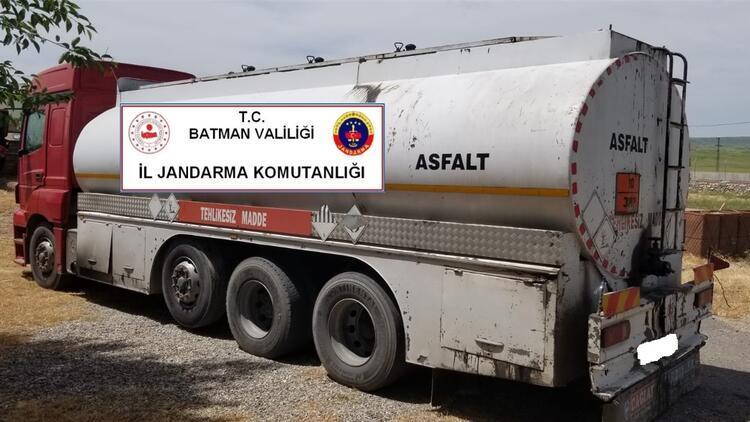 Batman'da 170 ton kaçak petrol ele geçirildi