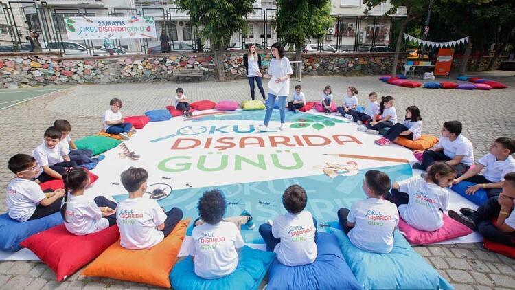 650 bine yakın çocuk 'Okul Dışarıda Günü' ile sınıflarını açık havaya taşıdı