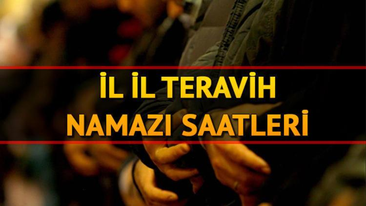 Teravih namazı bu akşam saat kaçta kılınacak? İstanbul Ankara İzmir il il teravih vakitleri