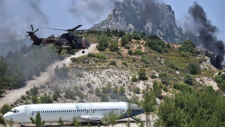 Kuzey Kıbrıs Türk Cumhuriyeti'nde nefes kesen tatbikat