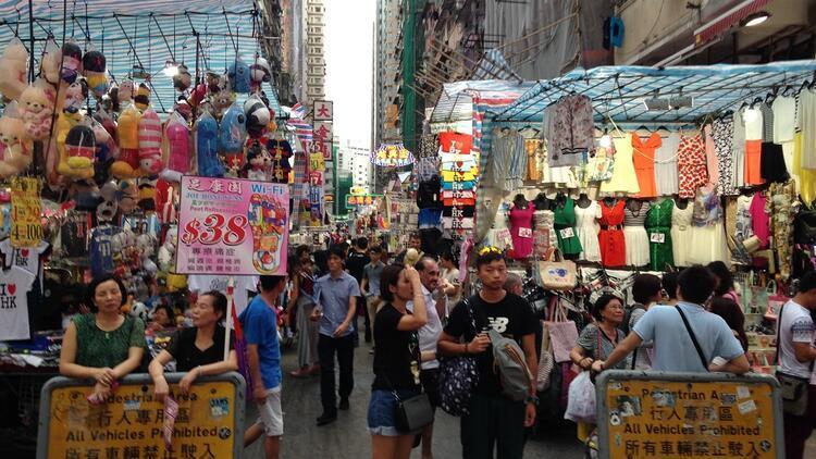 Hong Kong Adası'nın karşı yakası Kowloon