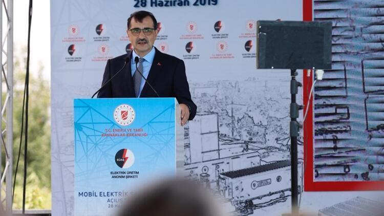 Bakan Dönmez açıkladı: Elektrikte 175 megavatlık mobil santral atağı