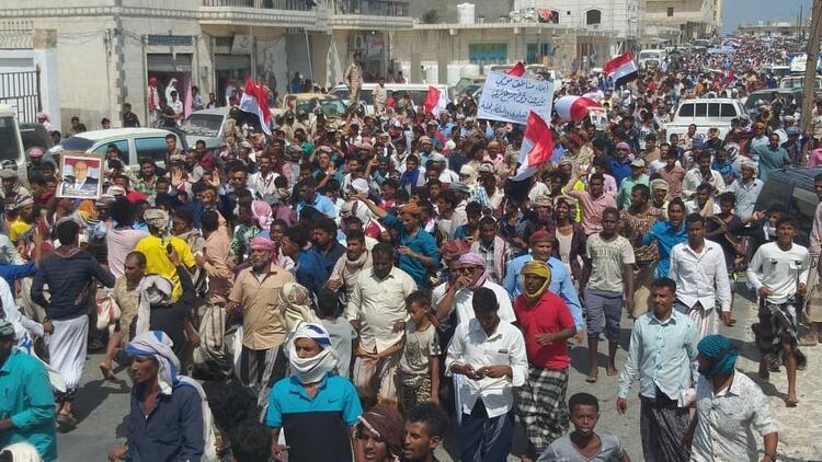 Yemen'de BAE'ye protesto