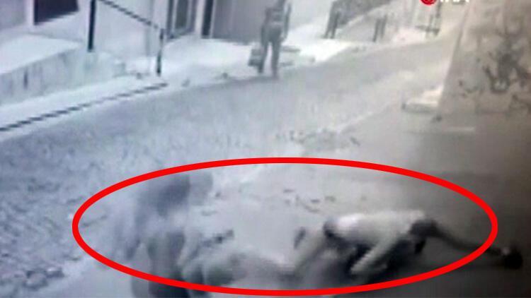 Beyoğlu'ndaki korkunç cinayetin görüntüleri ortaya çıktı
