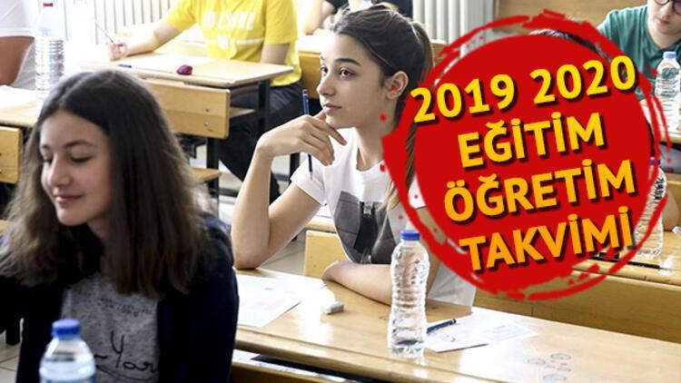 MEB 2019 2020 takvimini duyurdu - Okullar ne zaman açılacak?