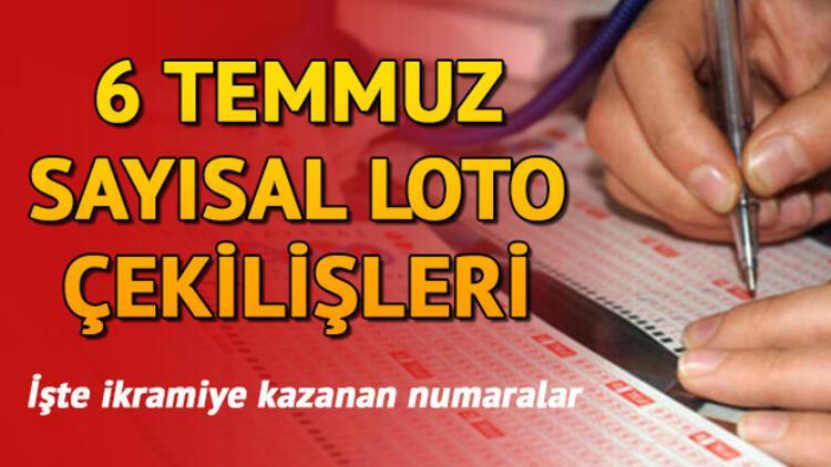 Sayısal Loto 6 Temmuz çekiliş sonuçları iki kente 3 milyon kazandırdı!