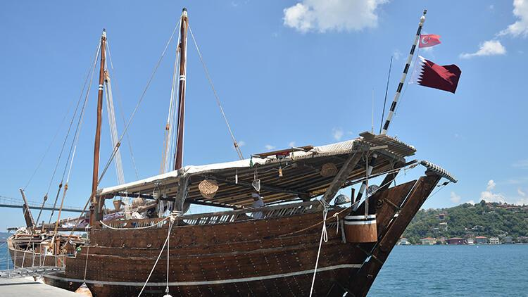 Boğaz'da dikkat çeken gemi