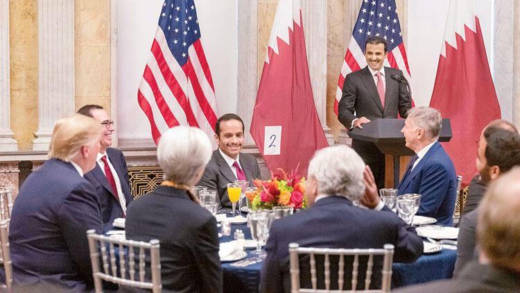 Katar Emiri, Trump'ın misafiri Hazinede ağırlandı
