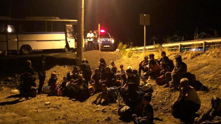 Ayvalık'ta 99 kaçak göçmen yakalandı