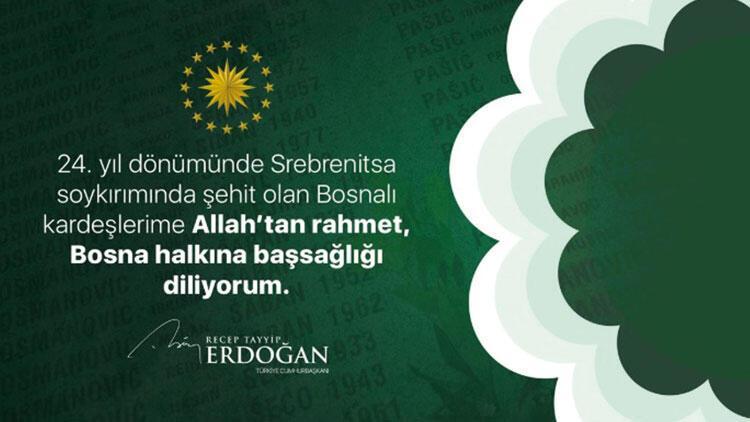 Beştepe'den Srebrenitsa mesajı