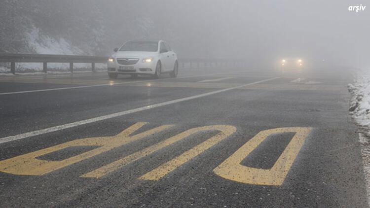 Bolu Dağı'nda yoğun sis... Görüş 15 metreye kadar düştü