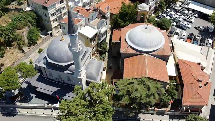 Cami, kilise ve sinagogun aynı sokakta olduğu Kuzguncuk havadan görüntülendi