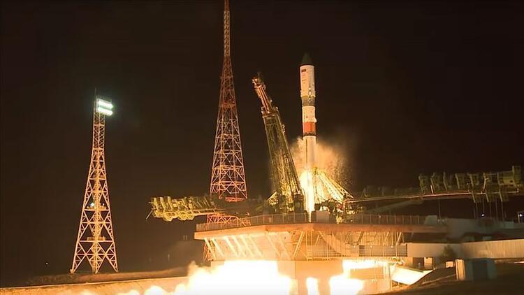 Progress MS 12 kargo kapsülü uzaya fırlatıldı