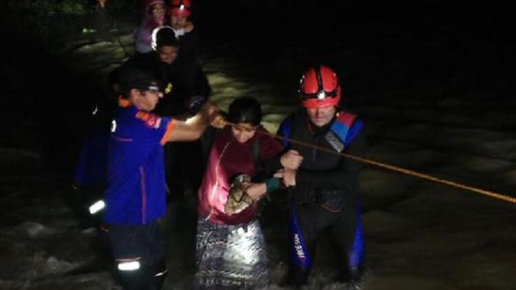 Ordu'da mahsur kalan fındık işçileri kurtarıldı
