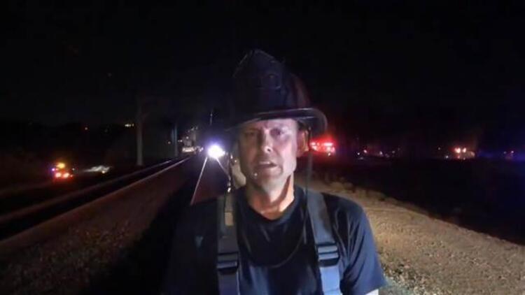 ABD'de tren raydan çıktı: 22 yaralı