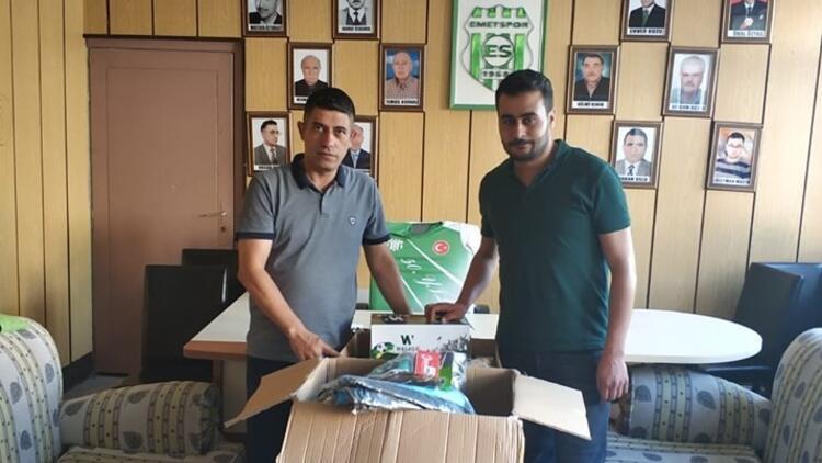 İbrahim Üzülmez'den, Emetspor'a malzeme desteği!
