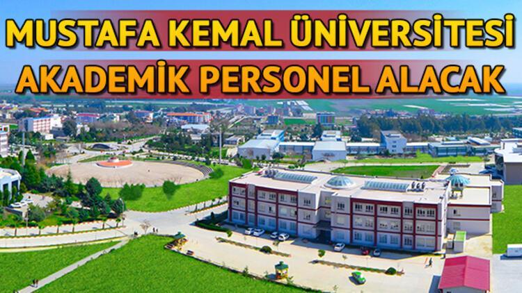 Mustafa Kemal Üniversitesi 10 araştırma ve öğretim görevlisi alacak! Başvuru şartları neler?