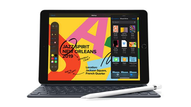 Apple'dan 10.2 inç ekran büyüklüğüne sahip yeni iPad