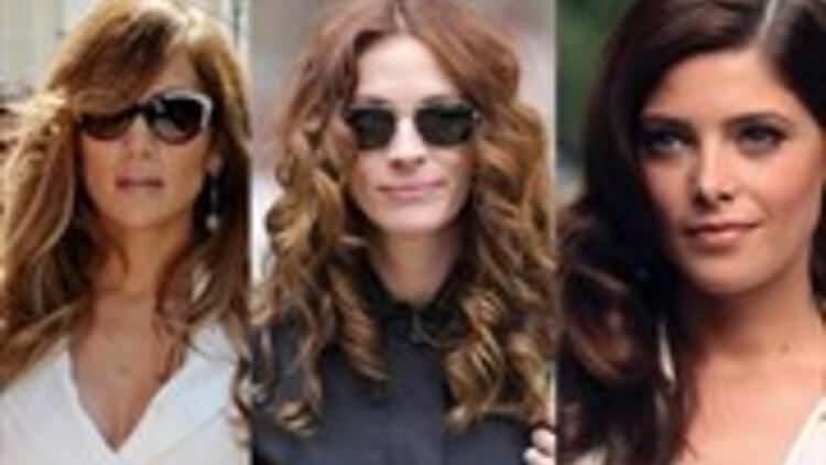 Ünlülerin dalgalı saç modelleri