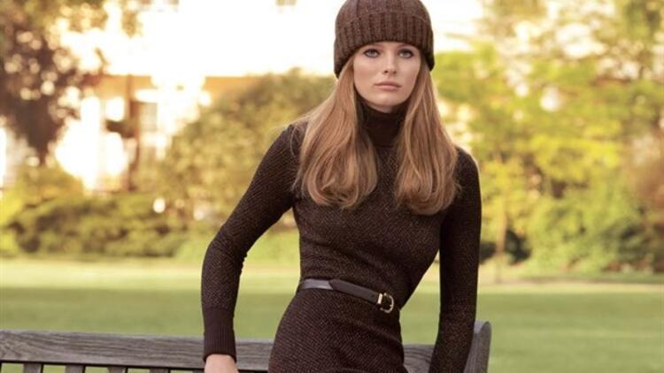 Sade şıklık: Kahverengi elbiseler!