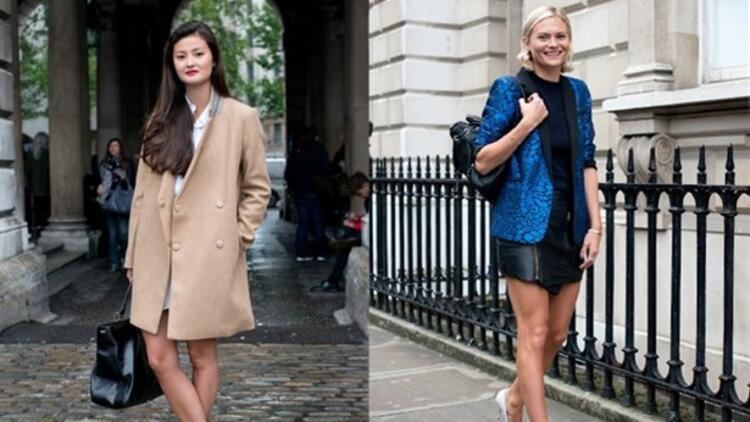 Londra Moda Haftası'ndan sokak stilleri