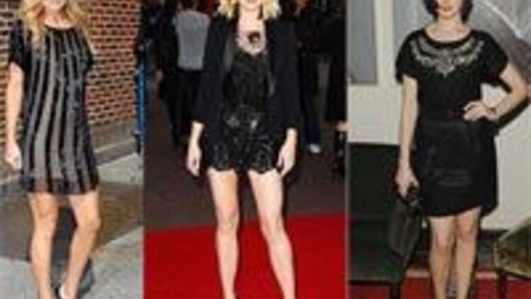 Siyah elbisenize ışıltı katmanın tam zamanı