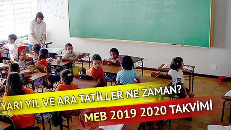 Kasım tatili ne zaman başlayacak? MEB 2019 2020 ara tatiller takvimi