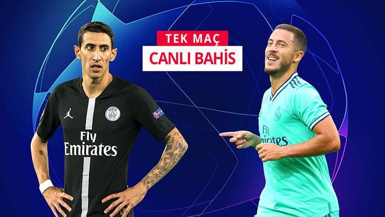 """""""PSG - Real Madrid"""" maçına CANLI BAHİS fırsatı! Maç öncesi öne çıkan ise..."""