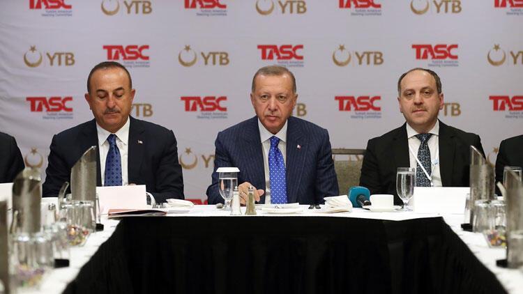 Cumhurbaşkanı Erdoğan, ABD Müslüman toplumunun temsilcileriyle bir araya geldi