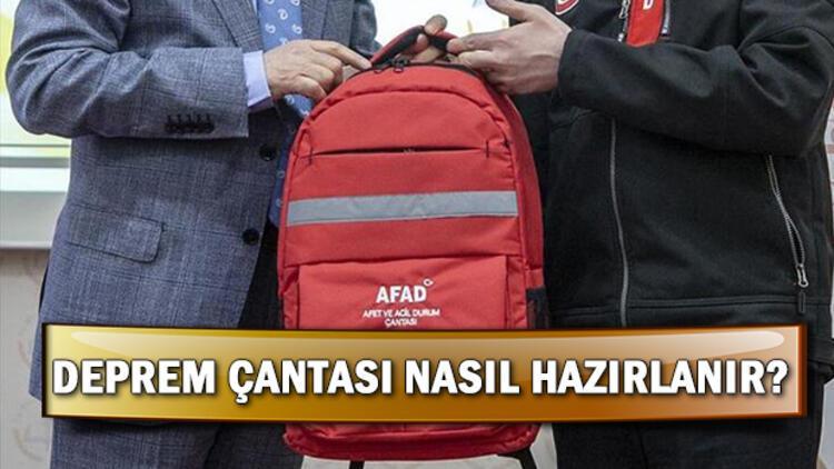 Deprem çantasında neler olmalı? Deprem çantası nasıl hazırlanır?