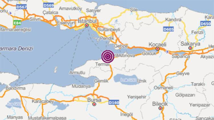 Son dakika... Marmara'da deprem