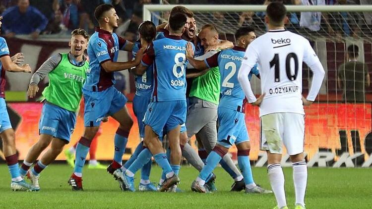 Trabzonspor sahasında Beşiktaş'ı farklı yendi