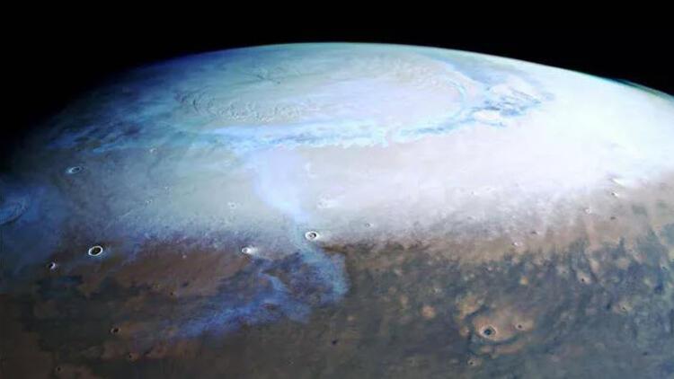 Mars'tan gelen son görüntüler inanılmaz: İşte kuzey kutbu