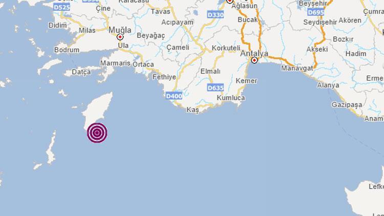 Son dakika... Akdeniz'de 4,3 büyüklüğünde deprem
