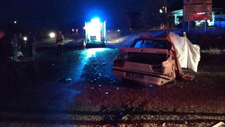 Korkunç kaza: 2 ölü, 2 yaralı
