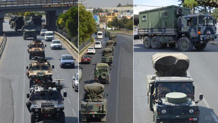 Son dönemlerin en büyük askeri konvoyu Nizip'e ulaştı