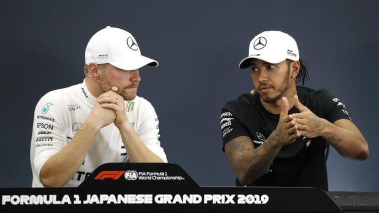 Japonya'da zafer Bottas'ın! Mercedes, takımlar klasmanında şampiyon...