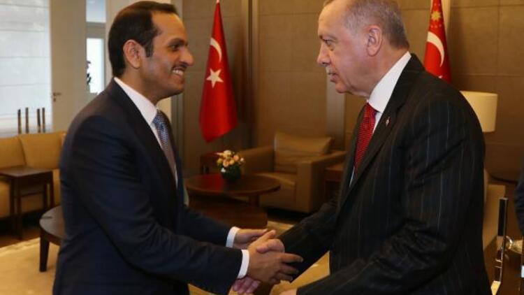 Cumhurbaşkanı Erdoğan Katar Başbakan Yardımcısı ve Dışişleri Bakanı Sani'yi kabul etti
