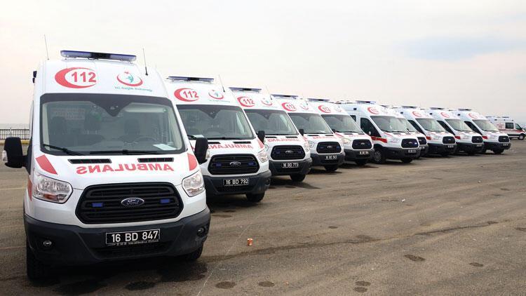 Taşıtların yarısı ambulans