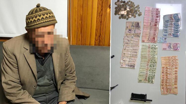 91 yaşındaki dilencinin üzerinden, 2 bin 500 lira para çıktı