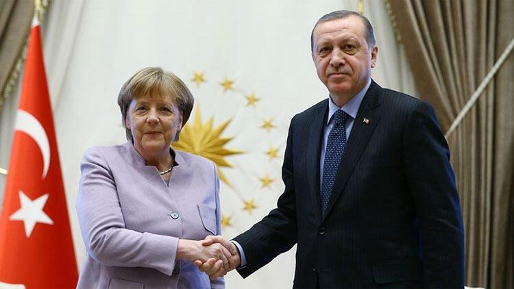 Son dakika: Cumhurbaşkanı Erdoğan, Merkel'le görüştü