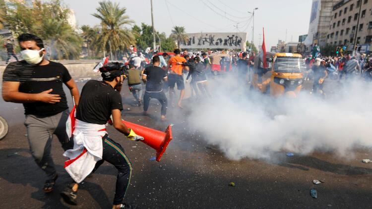 Bağdat'taki gösteriler 4'üncü gününde büyüyerek sürüyor