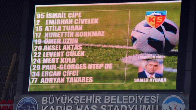Kayserisporda Samet Aybaba gafı Skorbord...